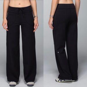 Lululemon Still Wide Leg Black Yoga Pant Size 2